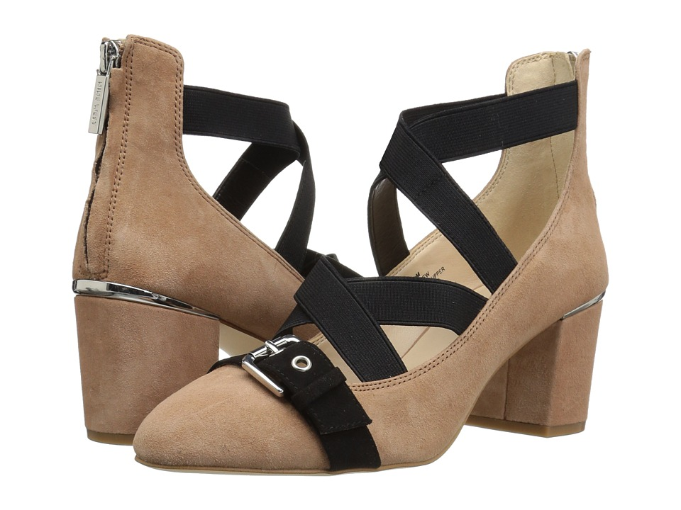 Nine West - Andrew (Natural Multi Suede) Women's 1-2 inch heel Shoes