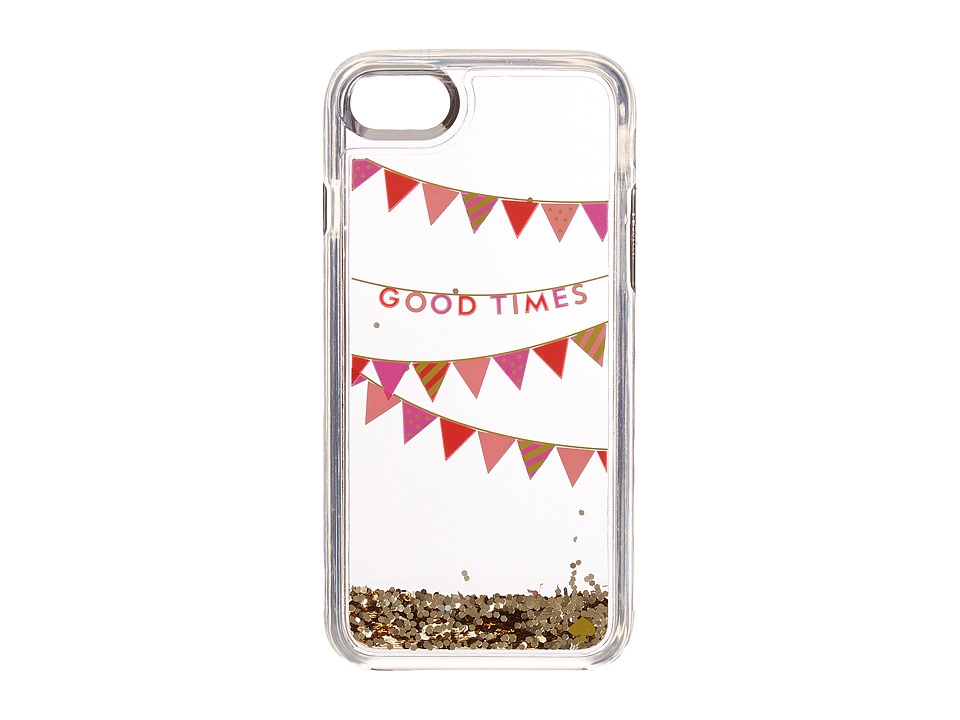 Kate Spade New York - Good Times Confetti Phone Case for iPhone(r) 7 (Clear Multi) Cell Phone Case