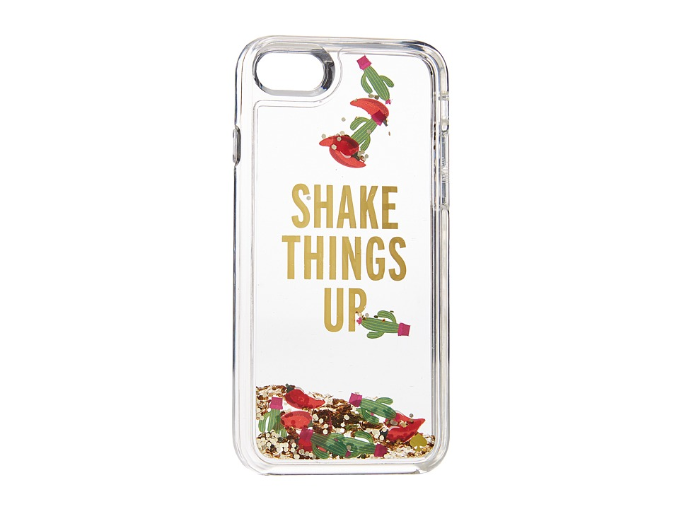 Kate Spade New York - Shake Things Up Phone Case for iPhone(r) 7 (Clear Multi) Cell Phone Case