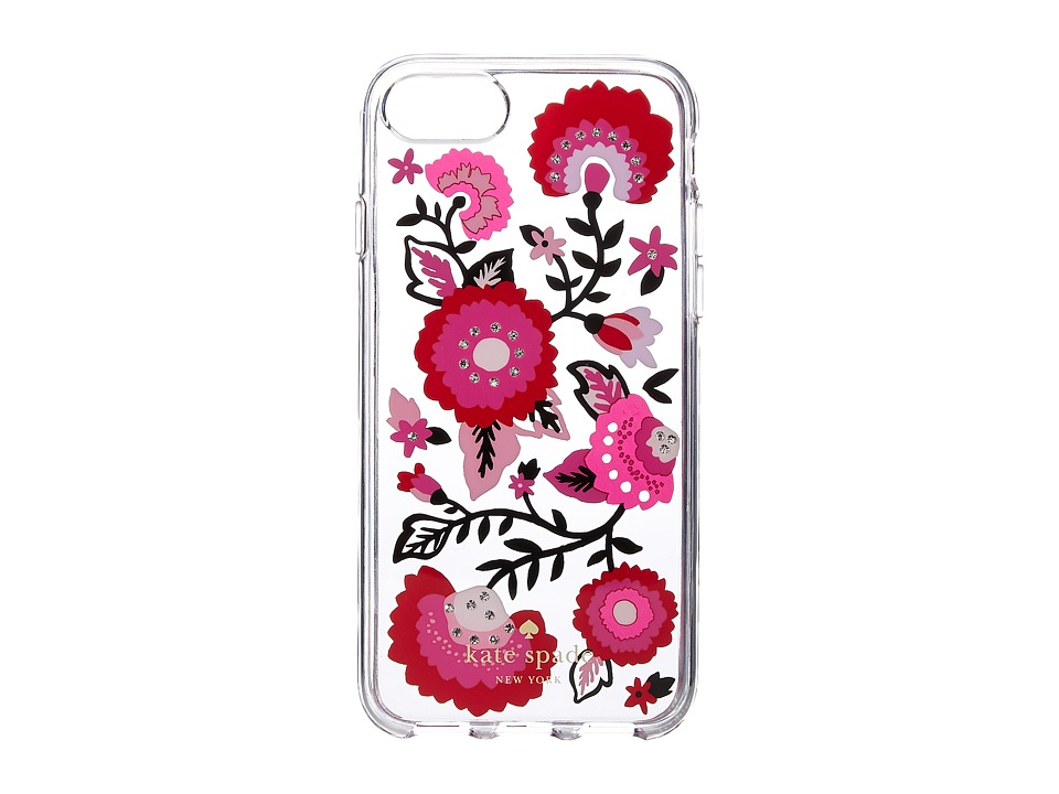 Kate Spade New York - Jeweled Garland Phone Case for iPhone(r) 7 (Clear Multi) Cell Phone Case