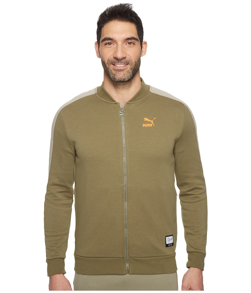 PUMA - Winter Long Sweat Jacket (Burnt Olive) Men's Coat