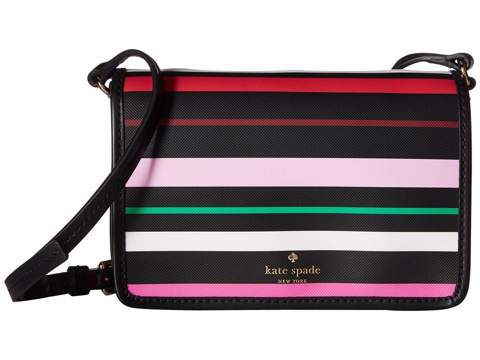 Kate Spade New York - Harding Street Stripe Renee (Black Multi) Handbags