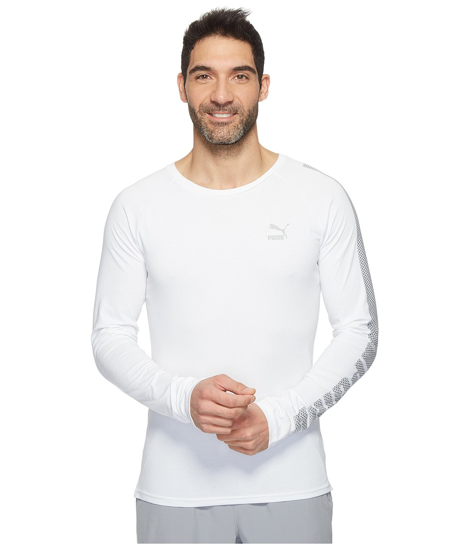 PUMA - Evo Core Long Sleeve Shirt (PUMA White) Men's Long Sleeve Pullover