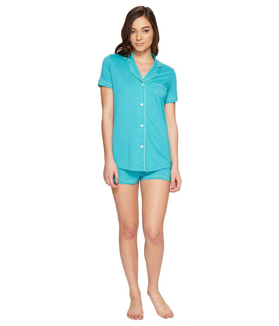 Cosabella - Amore S/S Boxer Set (Sea Green/Misty Green) Women's Pajama Sets