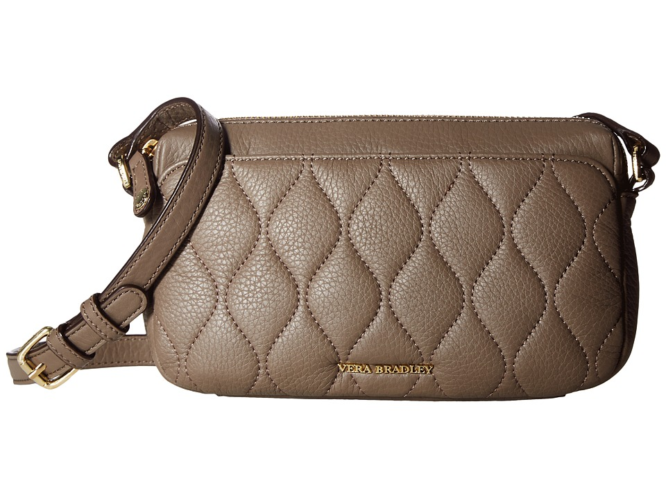 Vera Bradley - Quilted Sydney Crossbody (Taupe) Cross Body Handbags