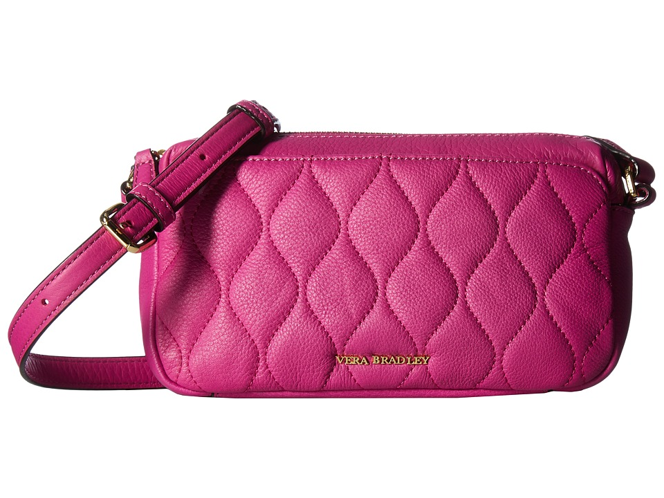 Vera Bradley - Quilted Sydney Crossbody (Magenta) Cross Body Handbags