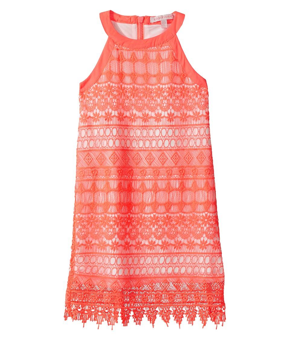 Appaman Kids - Lily Dress (Toddler/Little Kids/Big Kids) (Neon Coral) Girl's Dress