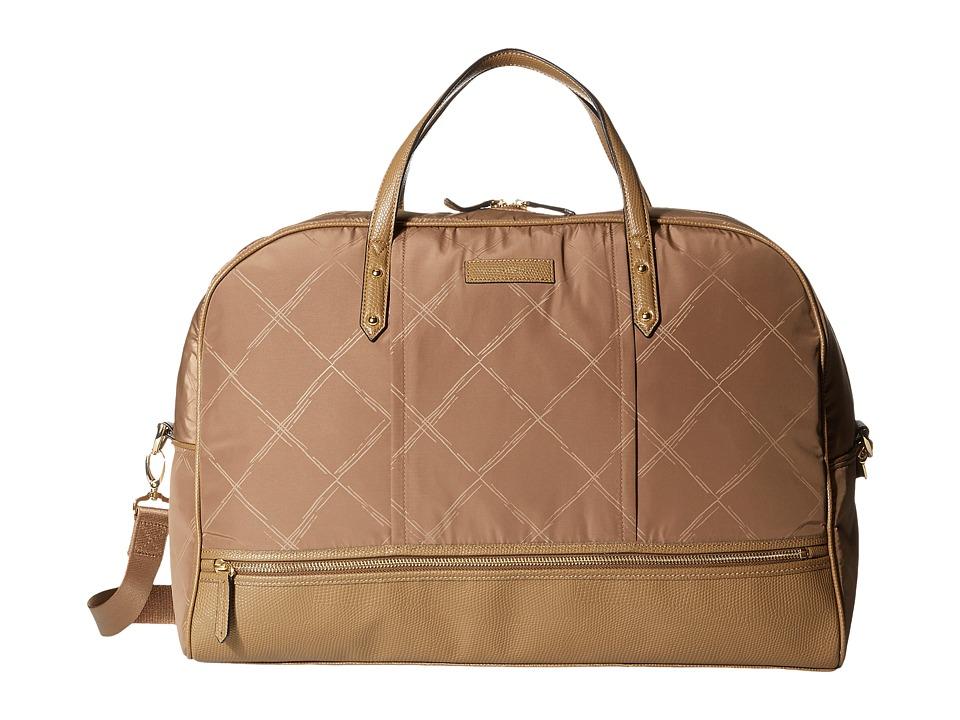 Vera Bradley - Preppy Poly Travel Bag (Toast) Bags