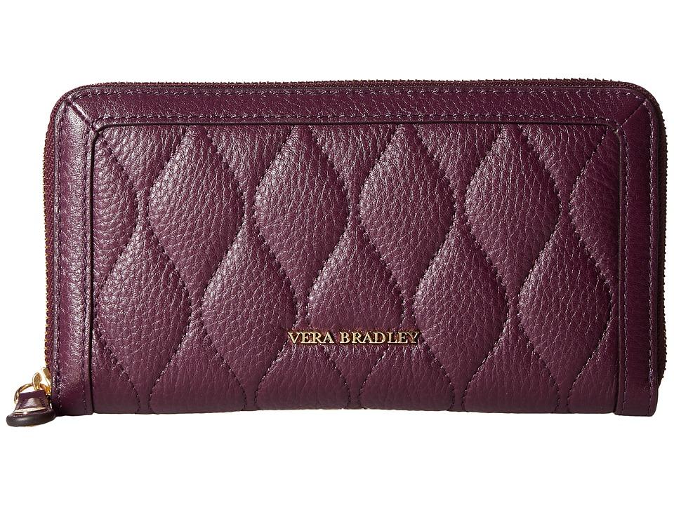 Vera Bradley - Quilted Georgia Wallet (Aubergine) Wallet Handbags
