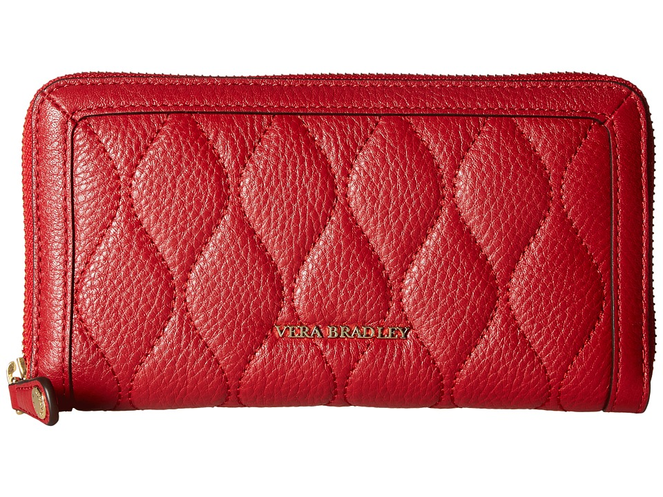 Vera Bradley - Quilted Georgia Wallet (Tango Red) Wallet Handbags