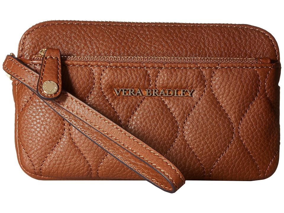 Vera Bradley - Quilted Sophie Wristlet (Cognac) Wristlet Handbags