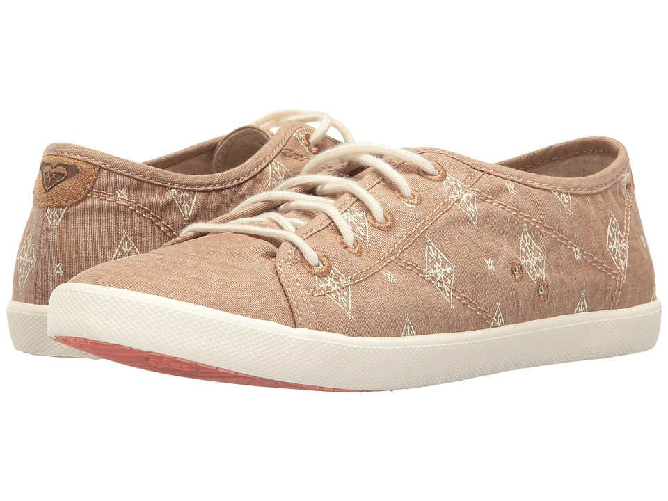 Roxy - Memphis (Tan) Women's Lace up casual Shoes