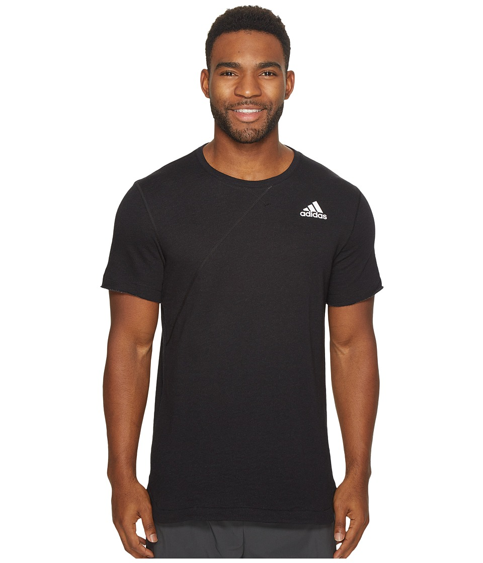 adidas - Cross Up Tee (Black/Black) Men's Short Sleeve Pullover