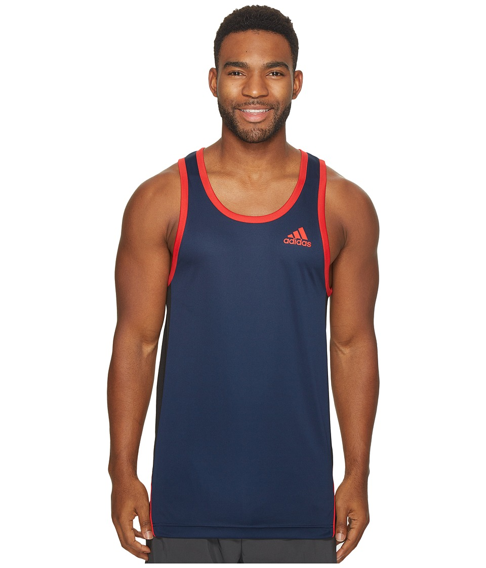 adidas - FDTN Tank Top (Collegiate Navy) Men's Sleeveless