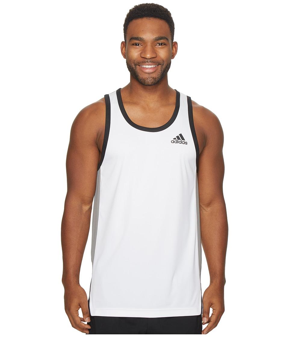 adidas - FDTN Tank Top (White) Men's Sleeveless