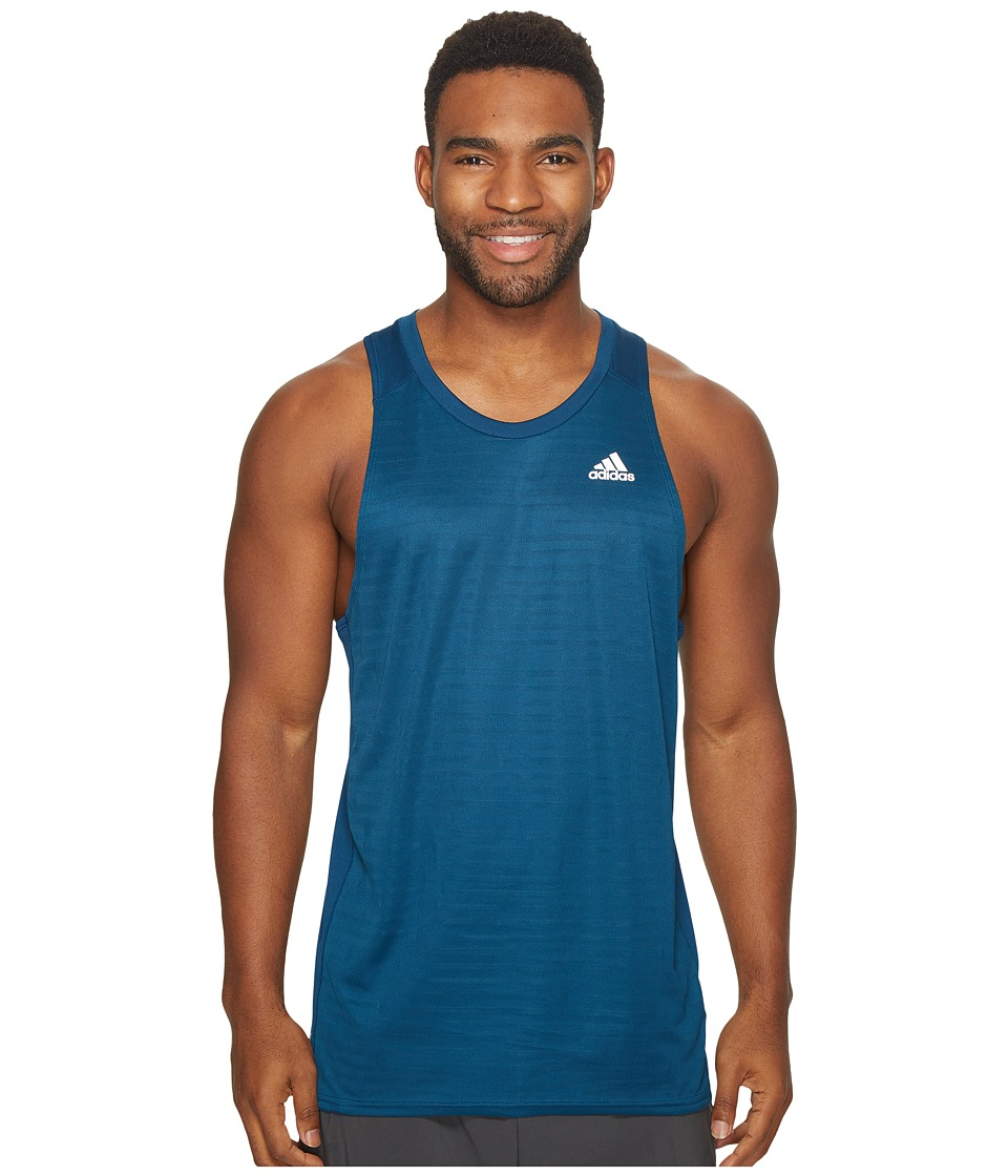 adidas - Response Singlet (Blue Night) Men's Sleeveless
