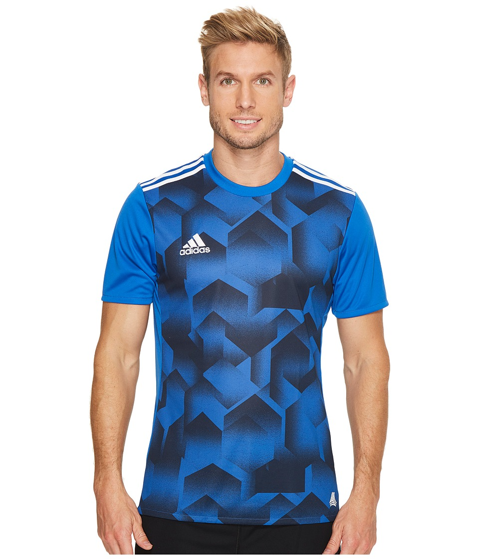 adidas - Tango Graphic Jersey (Blue/Black) Men's Short Sleeve Pullover
