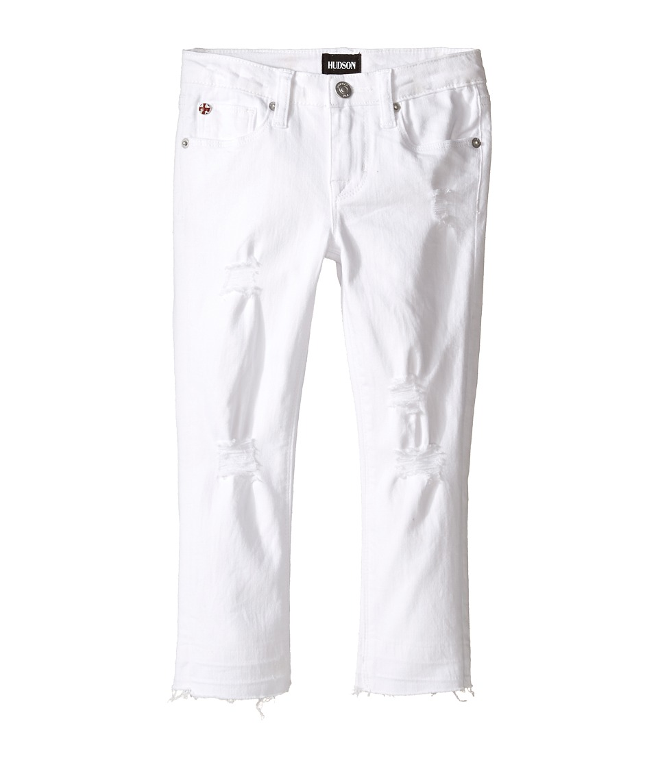Hudson Kids - Seaside Crop with Released Hem in White Abyss (Toddler/Little Kids) (White Abyss) Girl's Casual Pants