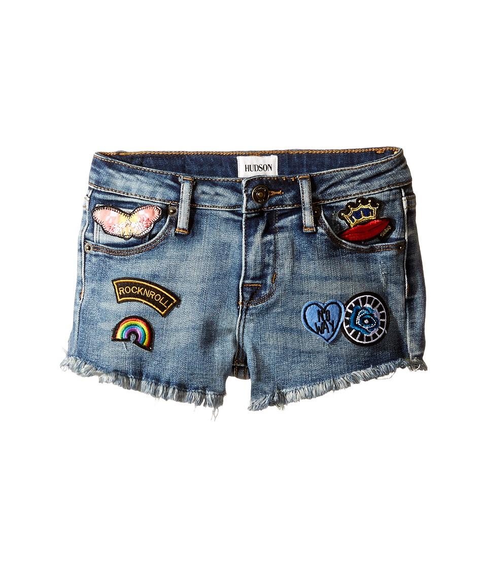 Hudson Kids - 2 1/2 Fray Hem Patched Up Shorts in Ryder (Toddler/Little Kids) (Ryder) Girl's Shorts