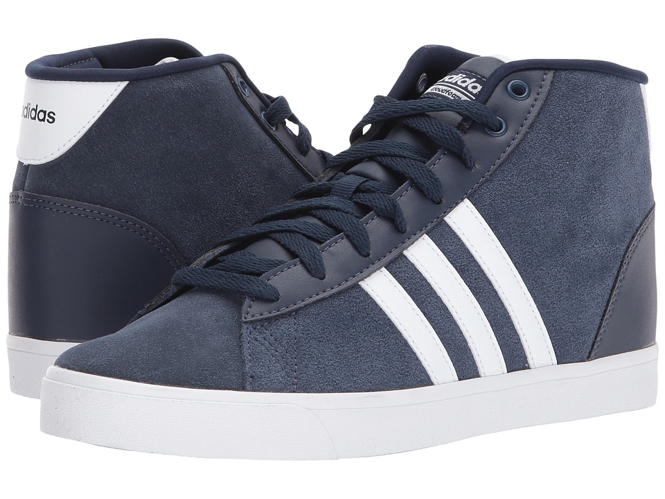 adidas - Cloudfoam Daily QT Mid (Collegiate Navy/Footwear White/Energy Aqua) Women's Basketball Shoes