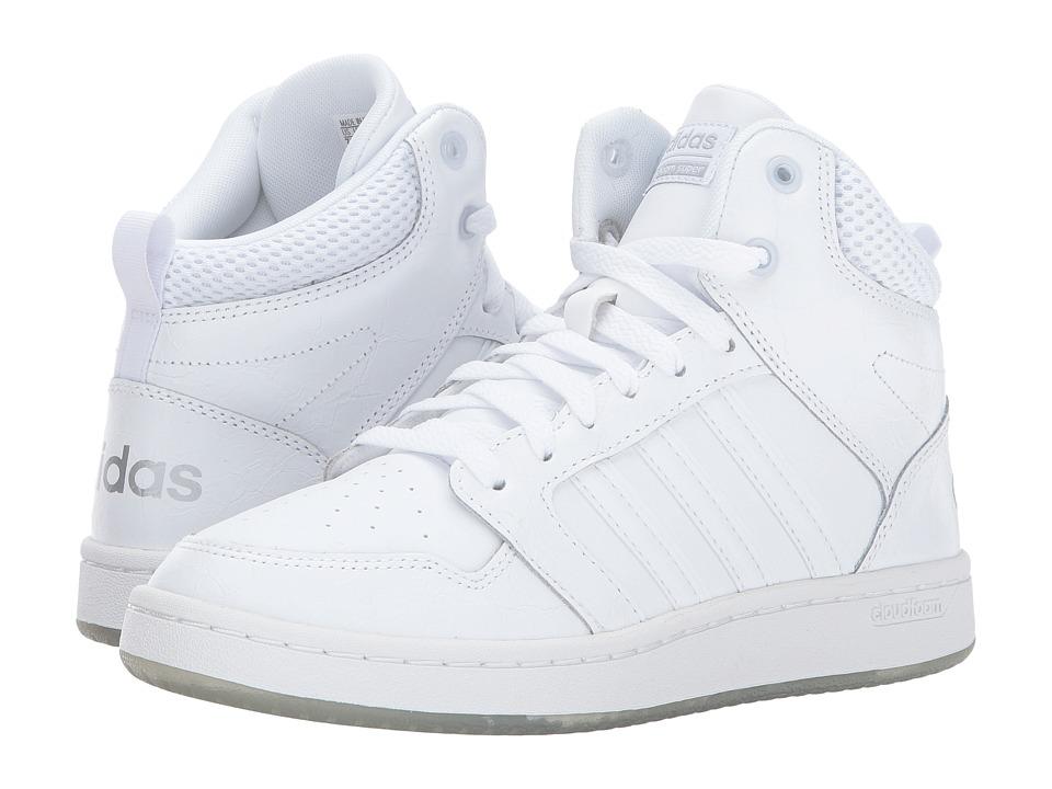 adidas Cloudfoam Super Hoops Mid (Footwear White/Footwear White/Matte Silver) Women