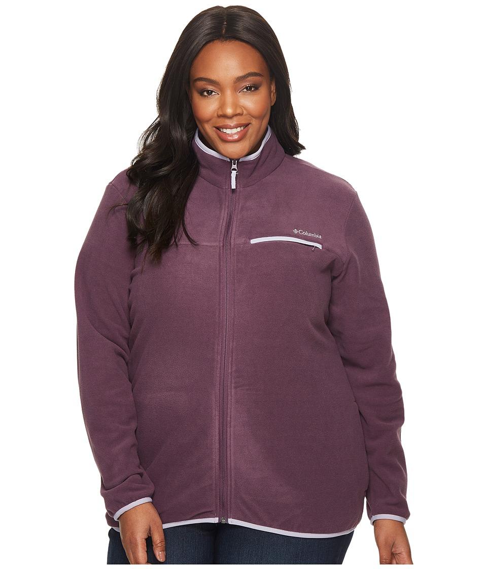 Columbia Plus Size Mountain Crest Full Zip (Dusty Purple Heather/Twilight) Women