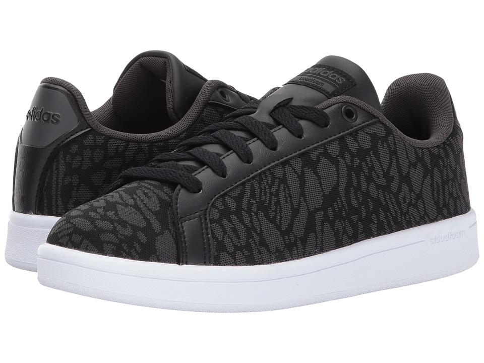 adidas - Cloudfoam Advantage Clean (Core Black/Core Black/Utility Black) Women's Court Shoes