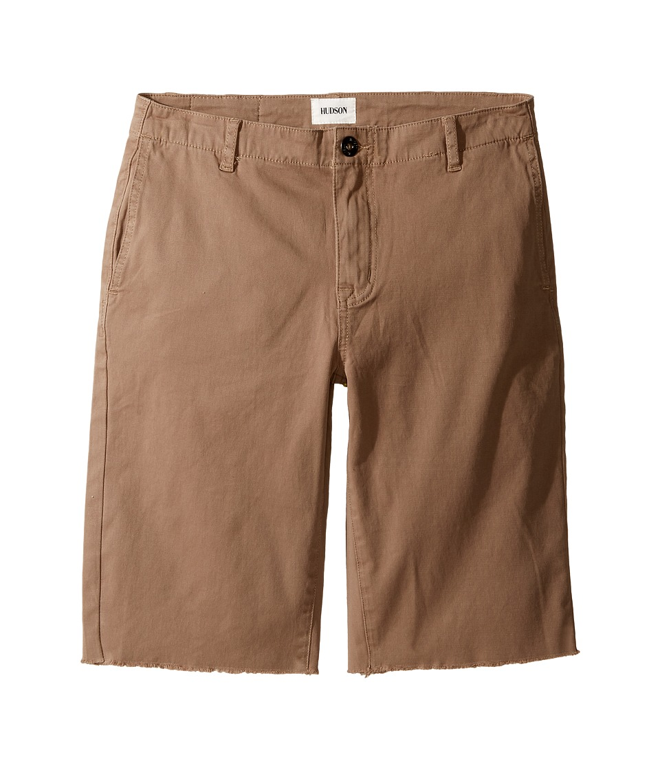 Hudson Kids - Beach Daze Raw Hem Sateen Chino Shorts in Dark Chino (Big Kids) (Dark Chino) Boy's Shorts