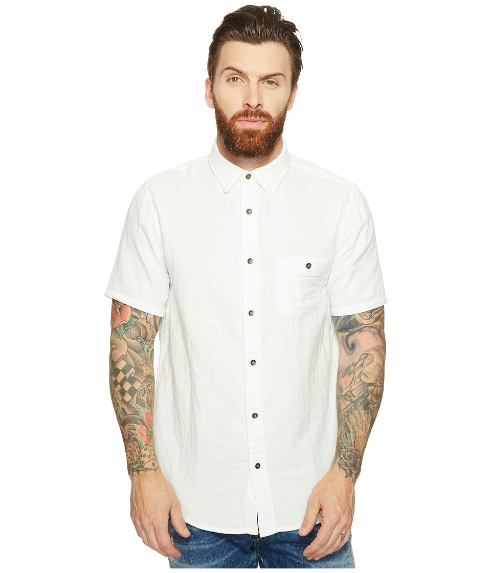 Threads 4 Thought - Double Face Short Sleeve Gauze Woven (White) Men's Clothing