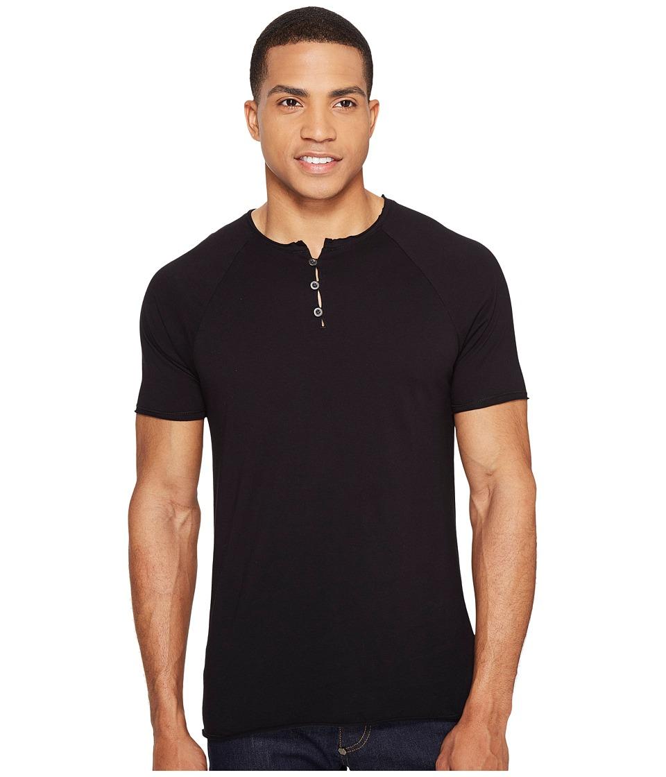 Threads 4 Thought - Standard Short Sleeve Henley (Black) Men's Clothing