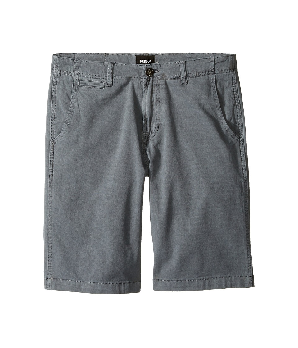 Hudson Kids - Sunny Pigment Dyed Twill Shorts in Medium Grey (Big Kids) (Medium Grey) Boy's Shorts