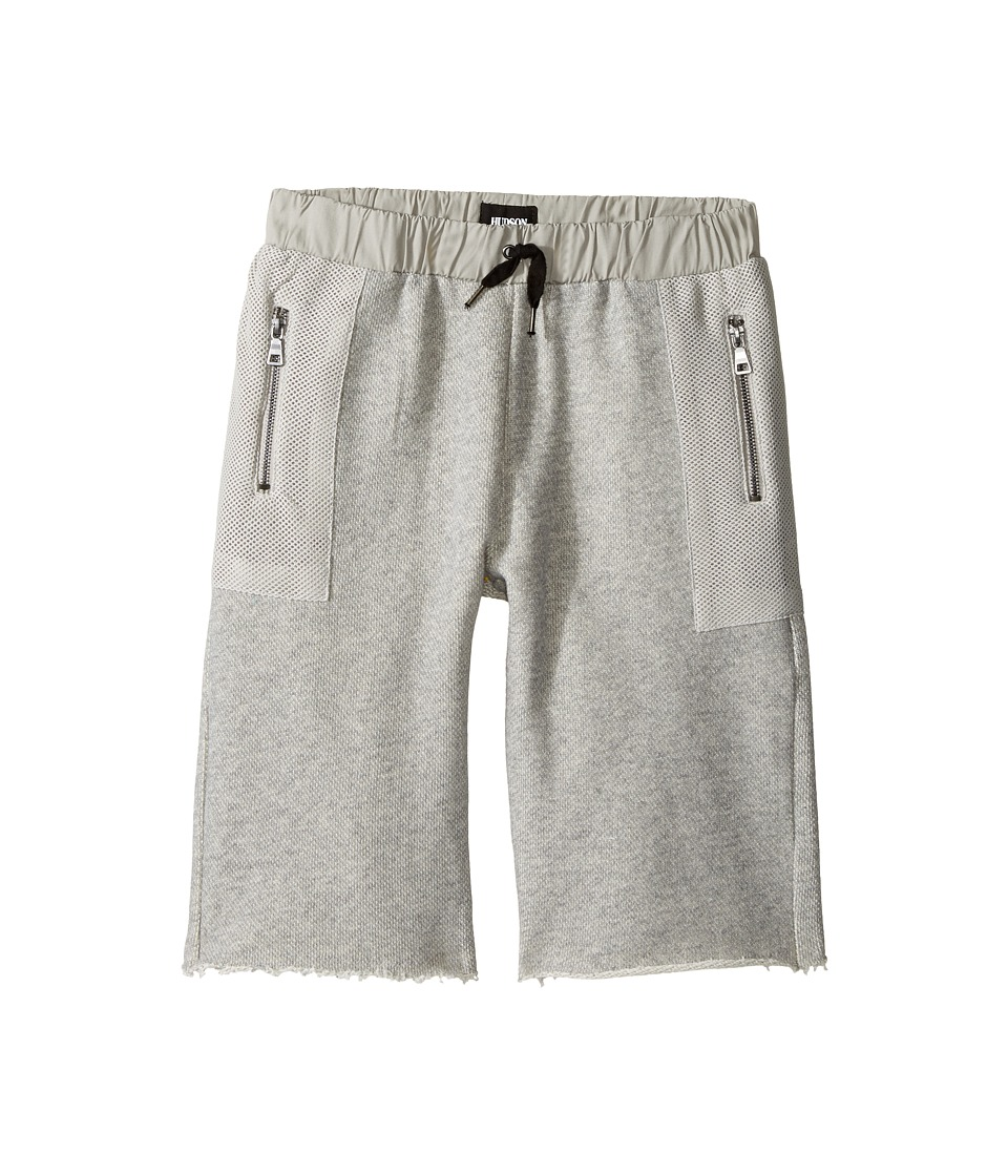 Hudson Kids - High Tech French Terry Shorts in Charcoal (Big Kids) (Charcoal) Boy's Shorts