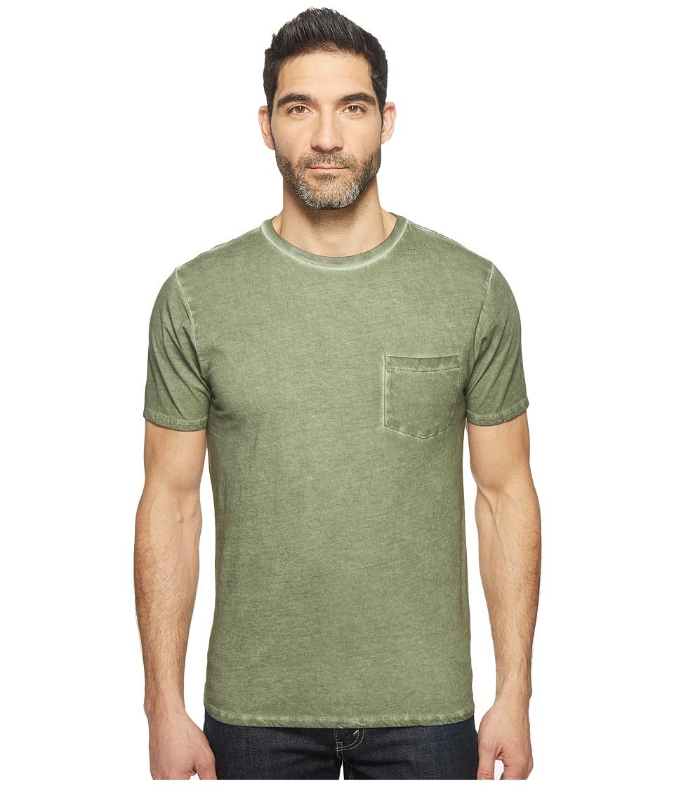 Threads 4 Thought - Rainwash Pocket Crew Tee (Army) Men's T Shirt