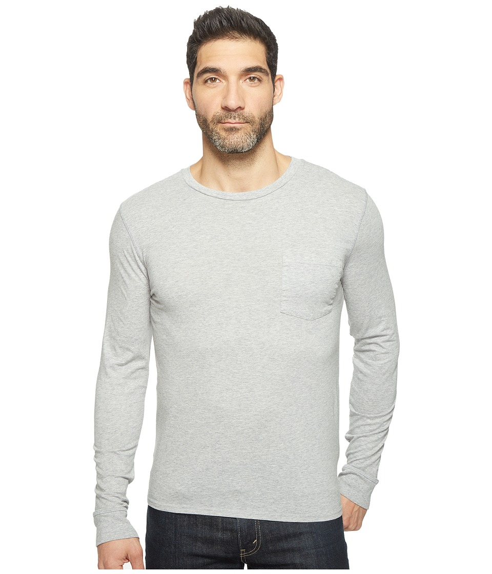 Threads 4 Thought - Standard Long Sleeve Pocket Tee (Marled Grey) Men's T Shirt