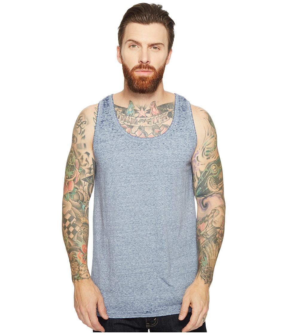 Threads 4 Thought - Burnout Tank Top (Deep Navy) Men's Sleeveless