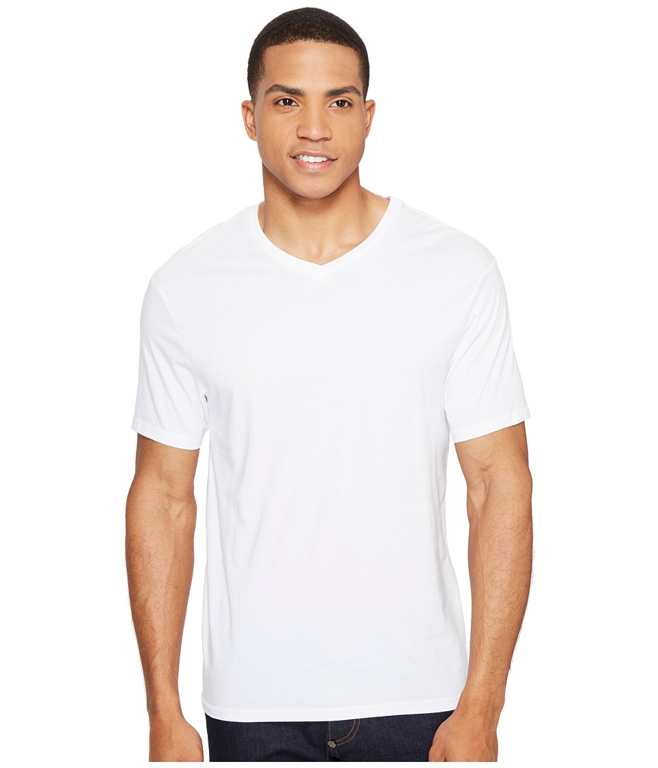Threads 4 Thought - Standard V-Neck Tee (White) Men's T Shirt