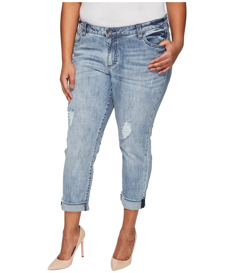 KUT from the Kloth - Plus Size Catherine Boyfriend in Heartiness/Medium Base Wash (Heartiness/Medium Base Wash) Women's Jeans