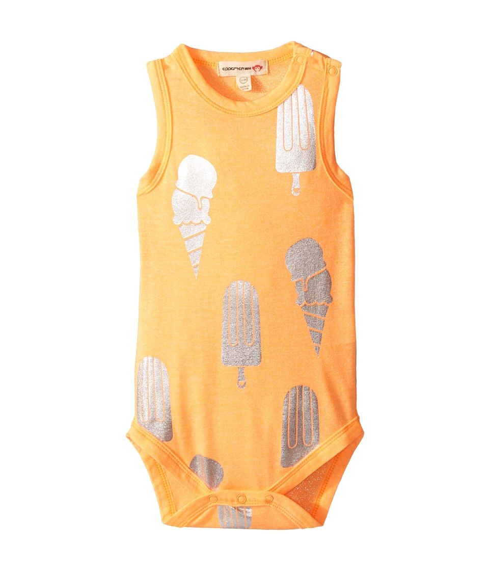 Appaman Kids - One-Piece - Ice Cream (Infant) (Neon Orange) Girl's Jumpsuit & Rompers One Piece