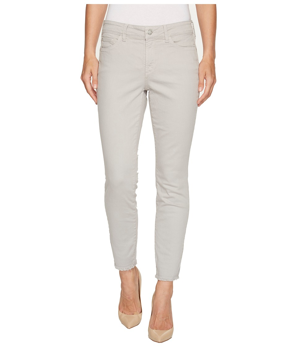 NYDJ - Alina Ankle w/ Fray Hem in Moonstone Grey (Moonstone Grey) Women's Jeans