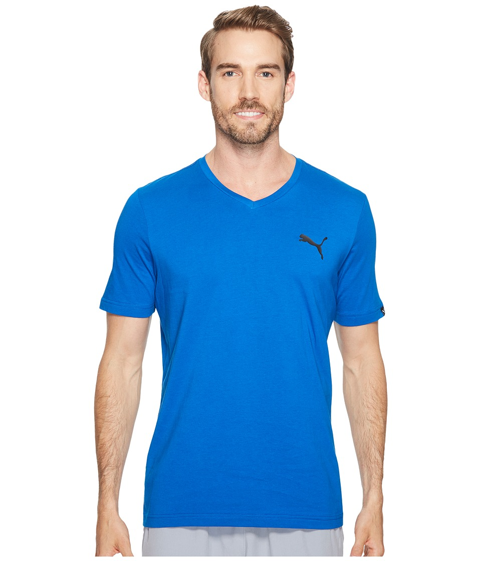 PUMA Iconic V-Neck Tee (Lapis Blue) Men