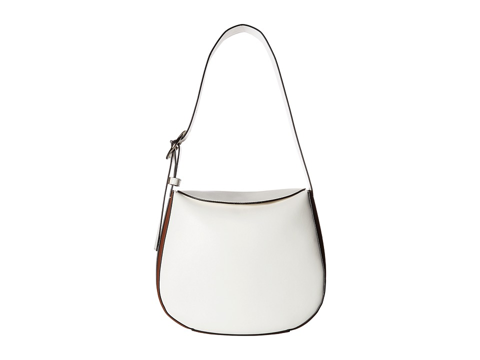 French Connection - Olivia Bucket (White/Nutmeg) Handbags