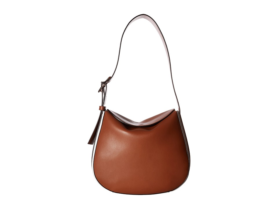 French Connection - Olivia Bucket (Nutmeg/White) Handbags