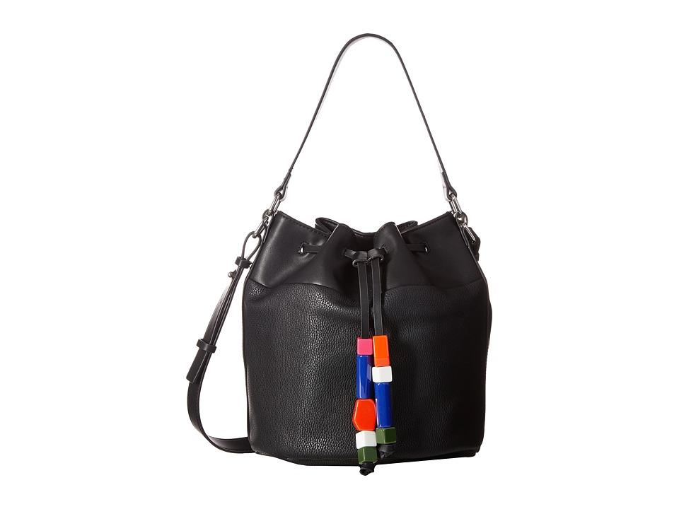 French Connection - Ace Drawstring (Black) Drawstring Handbags