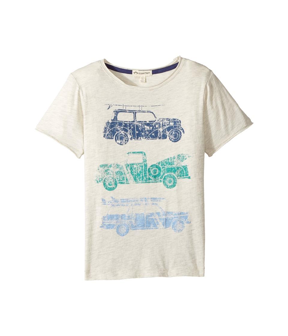 Appaman Kids - Super Soft Beach Ride Graphic Tee (Toddler/Little Kids/Big Kids) (Cloud Heather) Boy's T Shirt