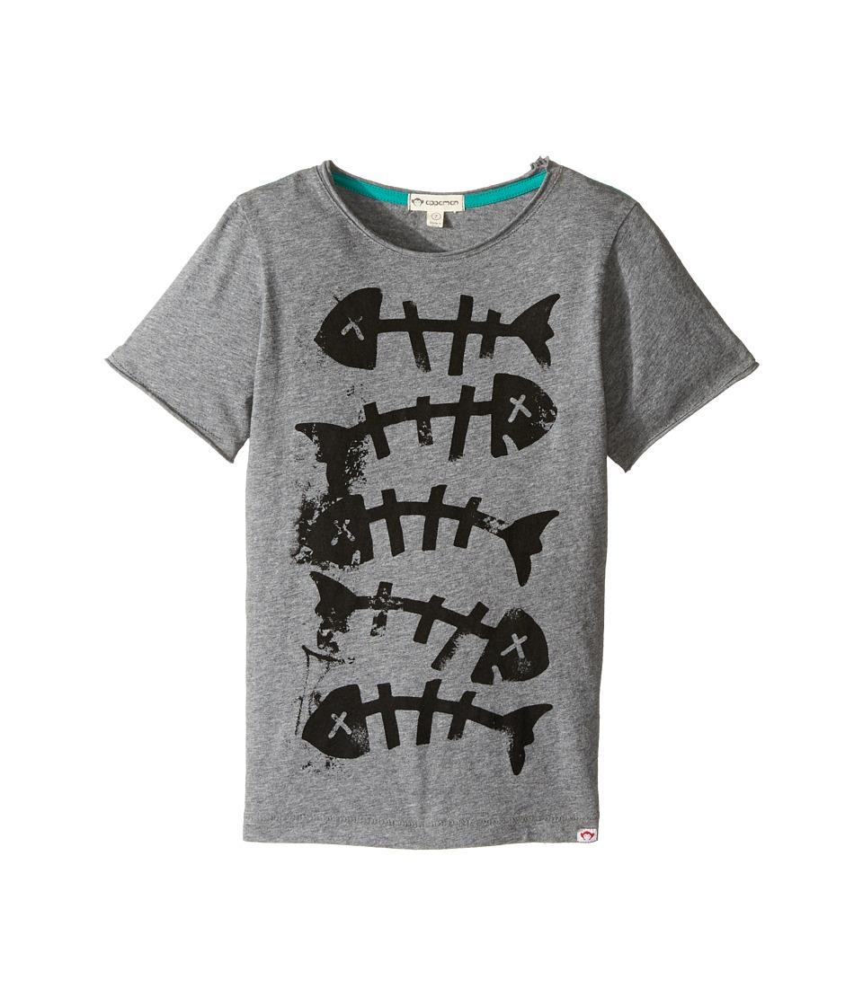 Appaman Kids - Super Soft Fish Bones Graphic Tee (Toddler/Little Kids/Big Kids) (Light Grey Heather) Boy's T Shirt