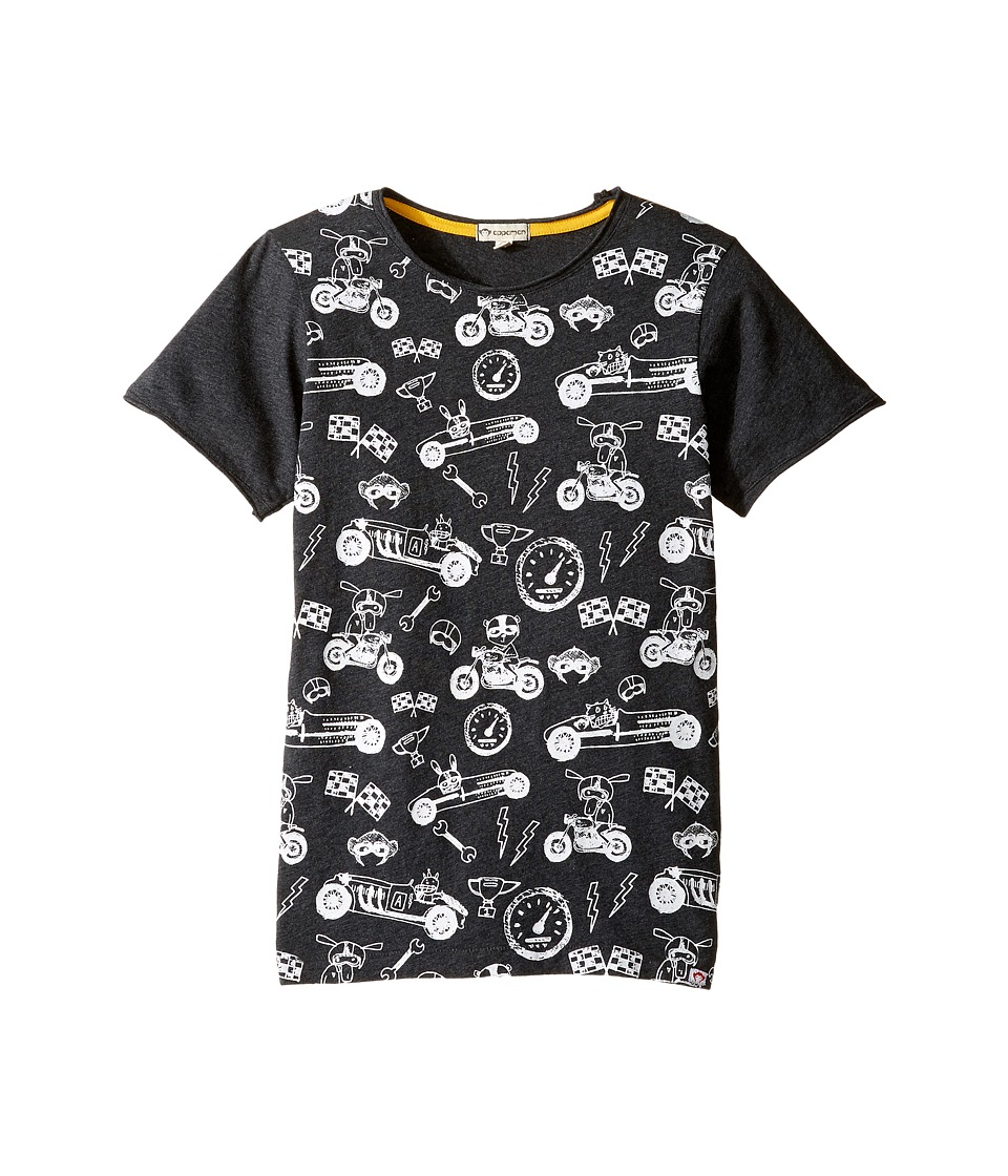 Appaman Kids - Super Soft Ready, Set, Go! Graphic Tee (Infant/Toddler/Little Kids/Big Kids) (Charcoal Heather) Boy's T Shirt
