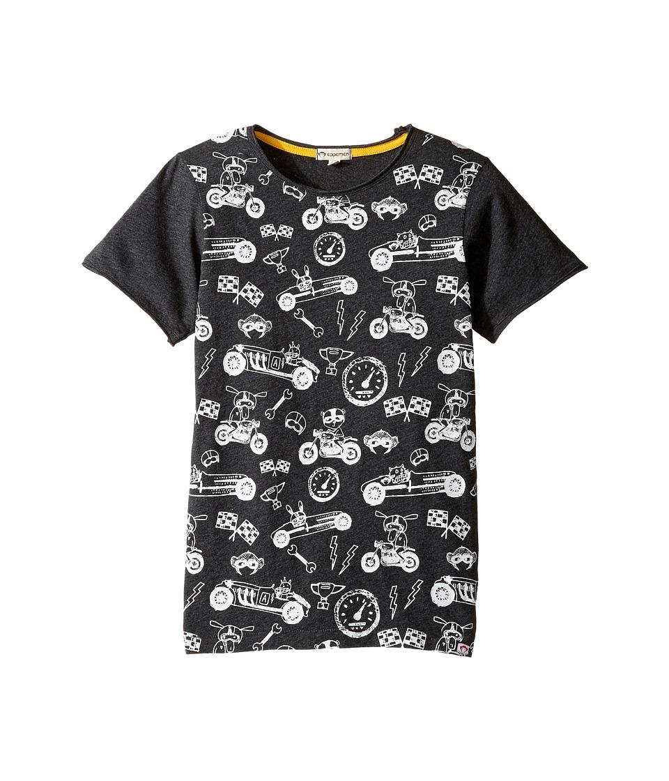 Appaman Kids - Super Soft Ready, Set, Go! Graphic Tee (Infant/Toddler/Little Kids/Big Kids) (Charcoal Heather) Boy's T Shirt