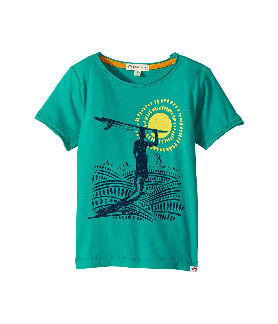 Appaman Kids - Super Soft Surfer's Paradise Graphic Tee (Toddler/Little Kids/Big Kids) (Island Turquoise) Boy's T Shirt