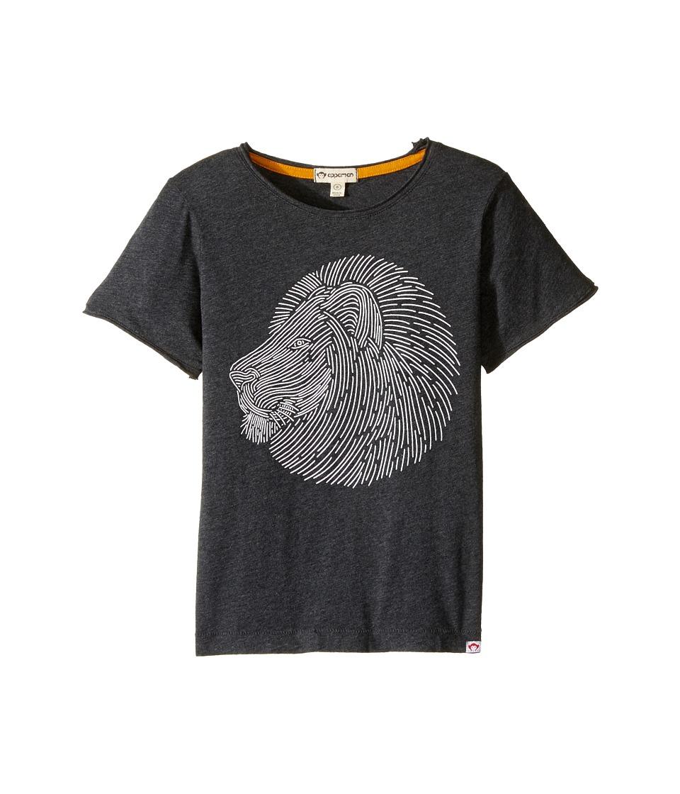 Appaman Kids - Super Soft Lion Graphic Tee (Toddler/Little Kids/Big Kids) (Charcoal Heather) Boy's T Shirt