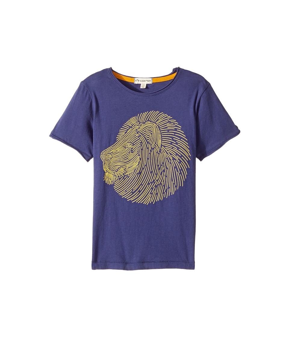 Appaman Kids - Super Soft Lion Graphic Tee (Toddler/Little Kids/Big Kids) (Deep Cobalt) Boy's T Shirt